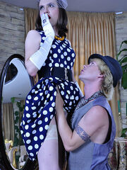 Crossdressing fetish femdom sissification pictures Owen&Silvester awesome sissy gay sex