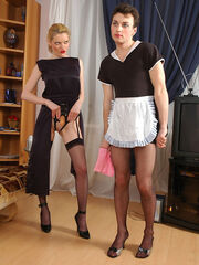 Free porn pics costume women sissy dom Ninette&George female clothed strapon couple